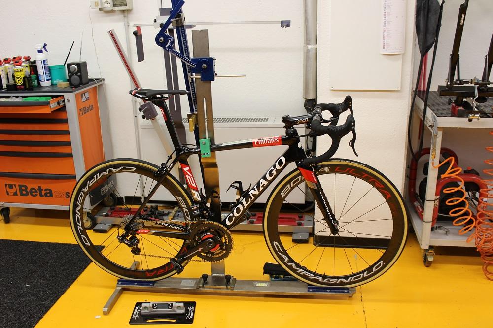 Vor der Tour de France werden alle Räder gecheckt.